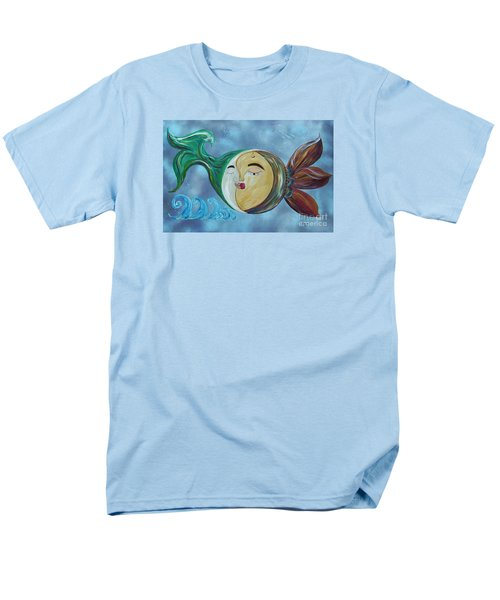 Men's T-Shirt  (Regular Fit) featuring the painting Love Connect - You Are My Moon And Sun by Eloise Schneider