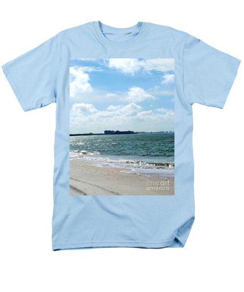 Men's T-Shirt  (Regular Fit) featuring the photograph Lovers Key Beach by Oksana Semenchenko