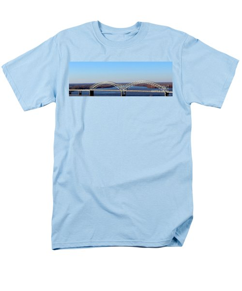 Men's T-Shirt  (Regular Fit) featuring the photograph M Bridge Memphis Tennessee by Barbara Chichester