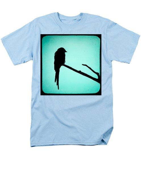 Magpie Shrike Silhouette Men's T-Shirt  (Regular Fit) by Gary Heller
