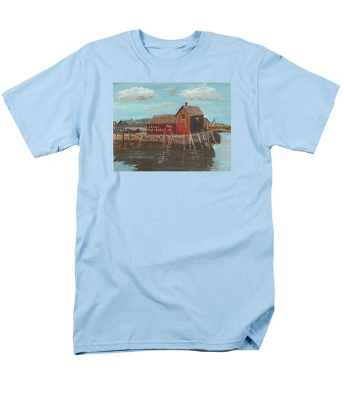 Maine Fishing Shack Men's T-Shirt  (Regular Fit) by Christine Lathrop
