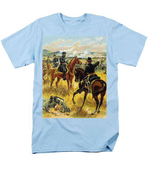 Major General George Meade At The Battle Of Gettysburg Men's T-Shirt  (Regular Fit) by Henry Alexander Ogden