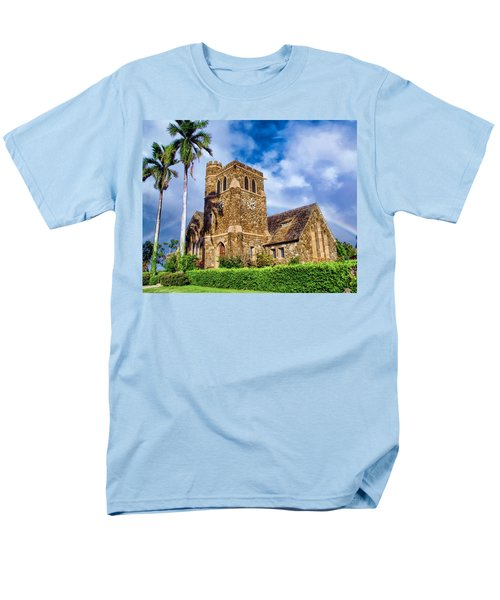 Makawao Union Church 1 Men's T-Shirt  (Regular Fit) by Dawn Eshelman