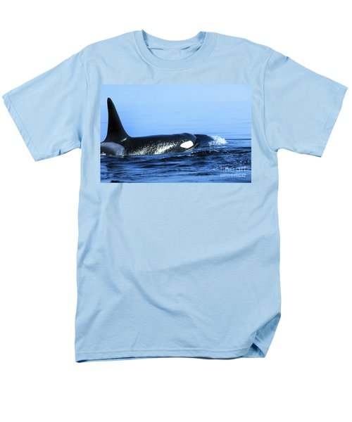 Men's T-Shirt  (Regular Fit) featuring the photograph Male Orca Off The San Juan Islands Washington 1986 by California Views Mr Pat Hathaway Archives