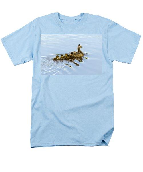 Mallard And Chicks  Men's T-Shirt  (Regular Fit) by Chris Flees