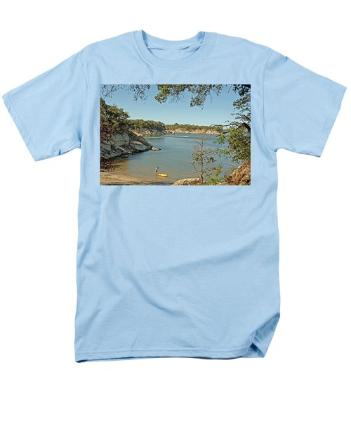 Man Going Kayaking Men's T-Shirt  (Regular Fit) by Charles Beeler