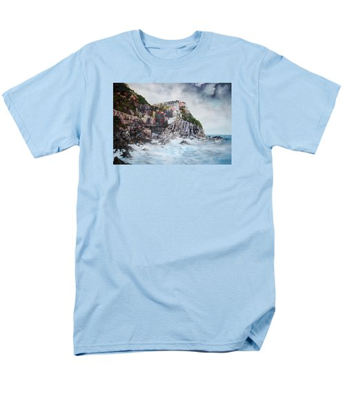 Men's T-Shirt  (Regular Fit) featuring the painting Manarola Italy by Jean Walker