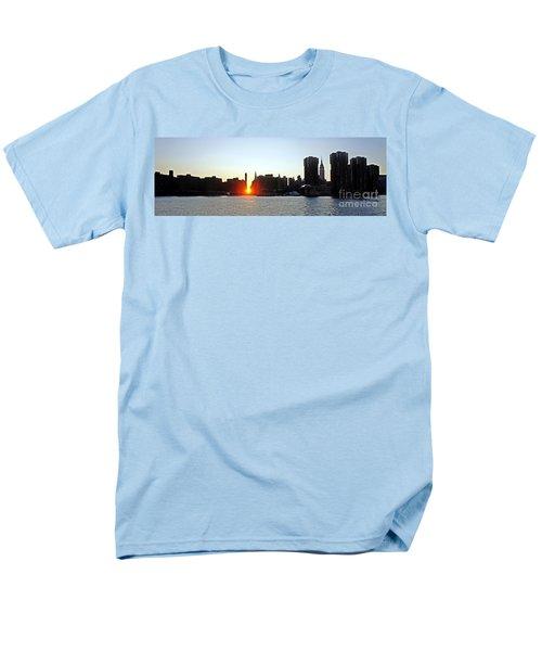 Men's T-Shirt  (Regular Fit) featuring the photograph Manhattanhenge 2011 by Lilliana Mendez