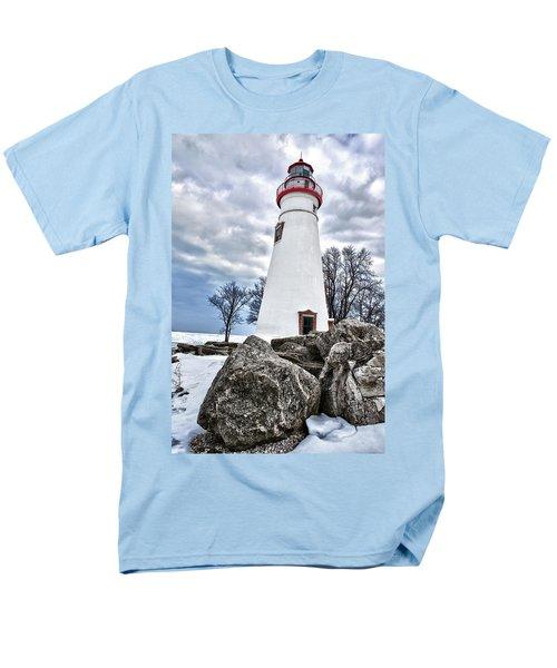 Marblehead Lighthouse Men's T-Shirt  (Regular Fit) by Renee Sullivan