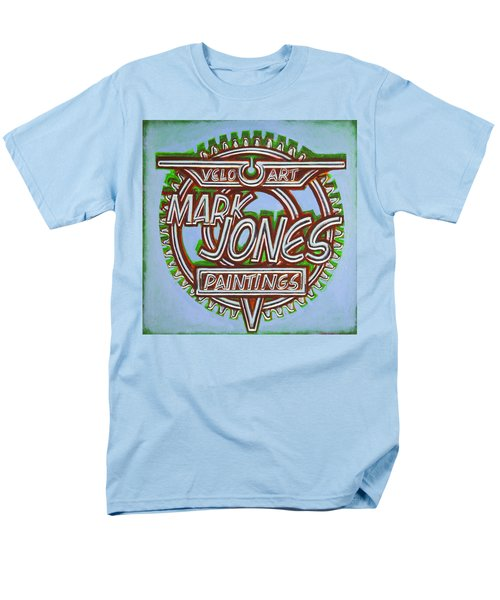 Men's T-Shirt  (Regular Fit) featuring the painting Mark Jones Velo Art Painting Blue by Mark Howard Jones