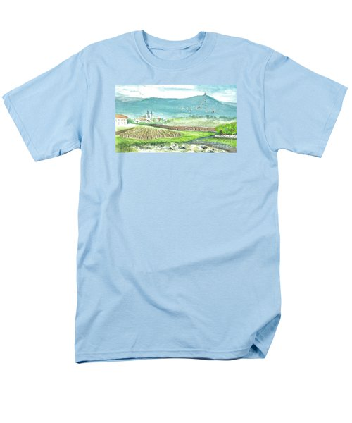 Men's T-Shirt  (Regular Fit) featuring the painting Medjugorje Fields by Christina Verdgeline