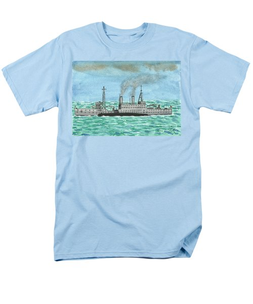 Men's T-Shirt  (Regular Fit) featuring the painting Meeting For Supplies  by John Williams