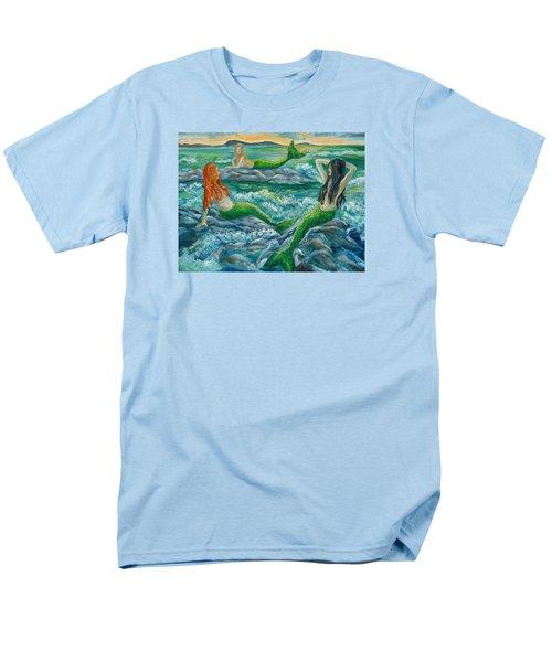 Mermaids On The Rocks Men's T-Shirt  (Regular Fit) by Julie Brugh Riffey
