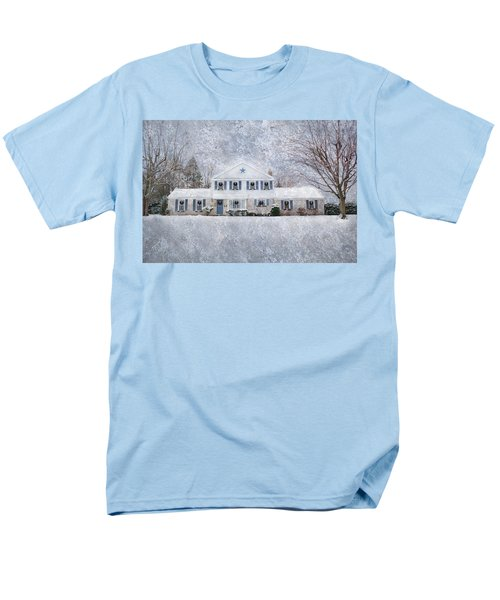 Wintry Holiday Men's T-Shirt  (Regular Fit) by Shelley Neff
