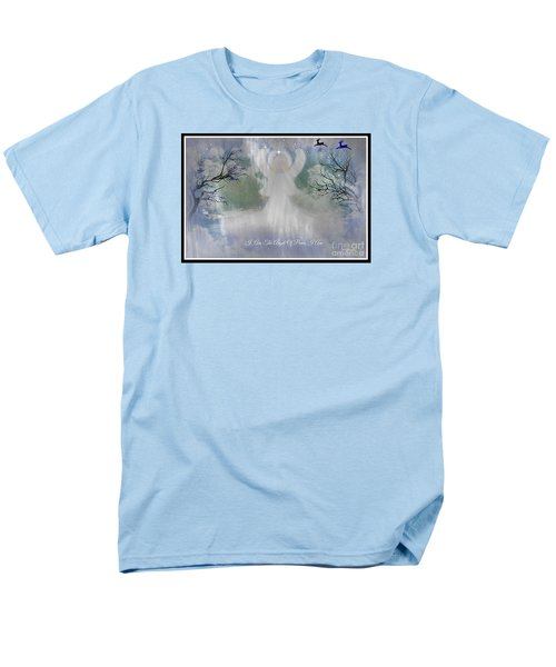 Men's T-Shirt  (Regular Fit) featuring the digital art Midnight Angel Of Peace by Sherri  Of Palm Springs