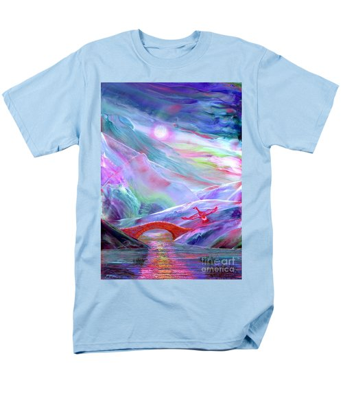Men's T-Shirt  (Regular Fit) featuring the painting   Midnight Silence, Flying Goose by Jane Small