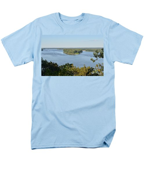 Mississippi River Overlook Men's T-Shirt  (Regular Fit) by Luther Fine Art
