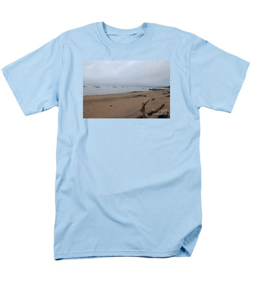 Men's T-Shirt  (Regular Fit) featuring the photograph Misty Harbor by David Jackson