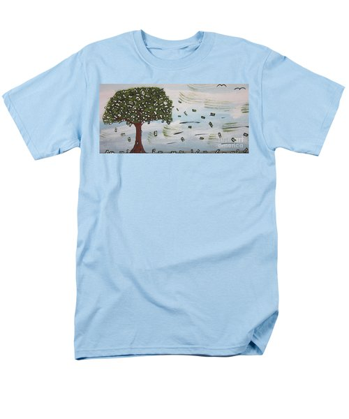 Men's T-Shirt  (Regular Fit) featuring the painting  The Money Tree by Jeffrey Koss