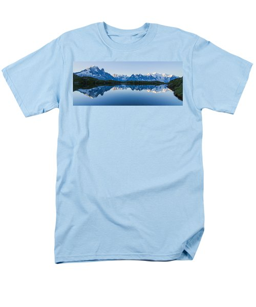Mont Blanc Massif Panorama Men's T-Shirt  (Regular Fit) by Mircea Costina Photography