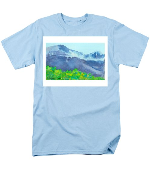 Montana Mountain Mist Men's T-Shirt  (Regular Fit) by C Sitton