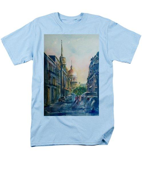 Montreal Skyline Men's T-Shirt  (Regular Fit) by Debbie Lewis