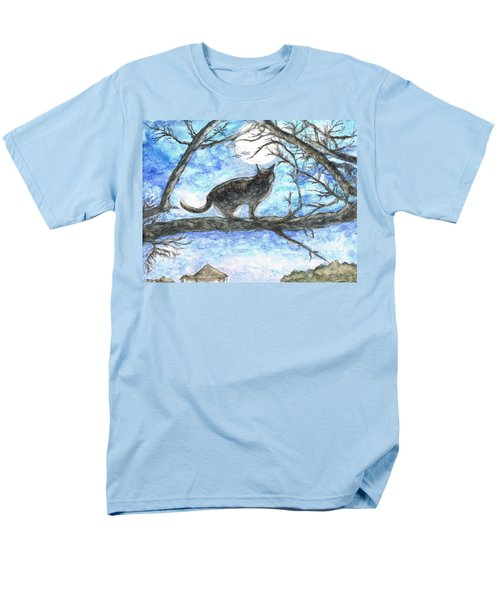 Moon Cat Men's T-Shirt  (Regular Fit) by Teresa White