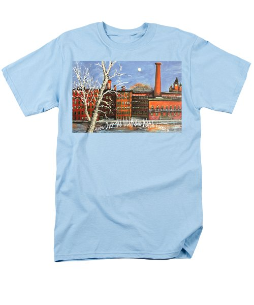 Men's T-Shirt  (Regular Fit) featuring the painting Moon Over Waltham Watch by Rita Brown