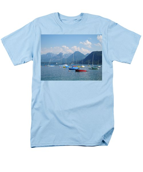Men's T-Shirt  (Regular Fit) featuring the photograph Moored Boats by Pema Hou