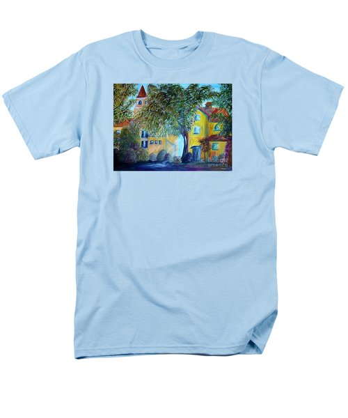 Men's T-Shirt  (Regular Fit) featuring the painting Morning In Tuscany by Eloise Schneider