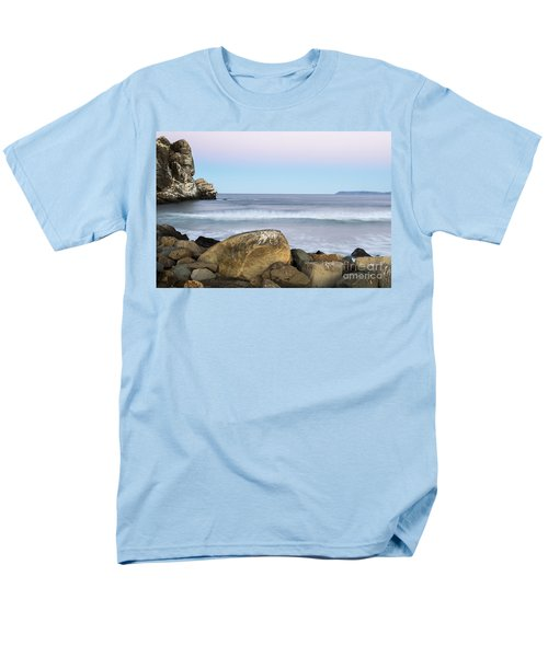 Morro Rock Morning Men's T-Shirt  (Regular Fit) by Terry Garvin