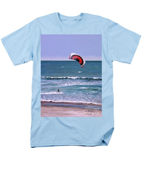 Men's T-Shirt  (Regular Fit) featuring the painting Mount Maunganui 160308 by Sylvia Kula