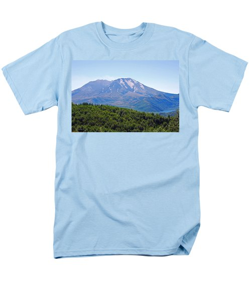 Mount St. Helens And Castle Lake In August Men's T-Shirt  (Regular Fit) by Connie Fox