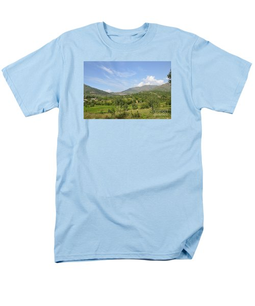 Men's T-Shirt  (Regular Fit) featuring the photograph Mountains Sky And Clouds Swat Valley Pakistan by Imran Ahmed