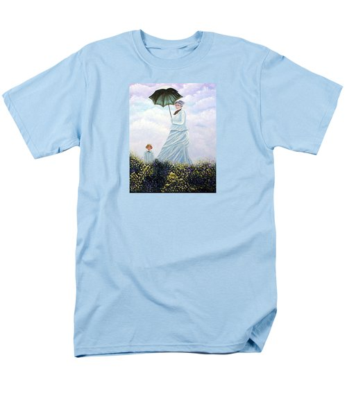 Men's T-Shirt  (Regular Fit) featuring the painting Mrs. Monet And Son by Fran Brooks