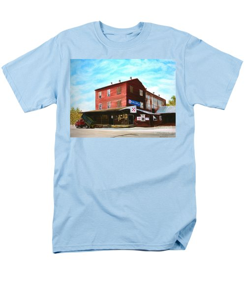 Men's T-Shirt  (Regular Fit) featuring the painting Mt. Pleasant Milling Company by Stacy C Bottoms