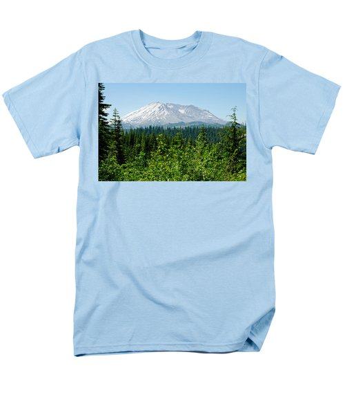Mt. St. Hellens Men's T-Shirt  (Regular Fit) by Tikvah's Hope