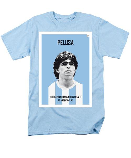 My Maradona Soccer Legend Poster Men's T-Shirt  (Regular Fit) by Chungkong Art