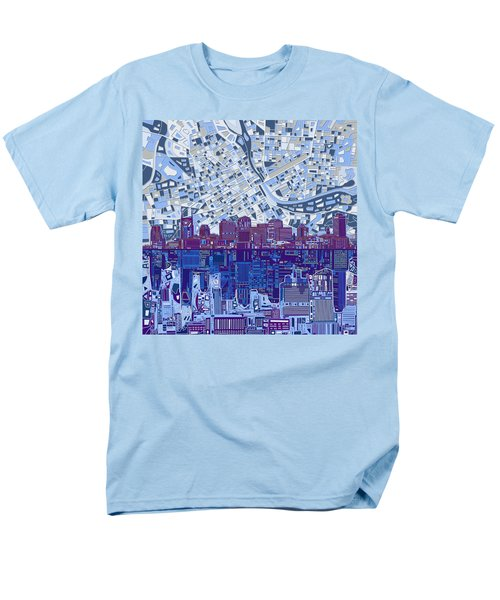 Nashville Skyline Abstract 8 Men's T-Shirt  (Regular Fit)