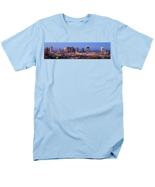 Nashville Skyline At Dusk Panorama Color Men's T-Shirt  (Regular Fit)