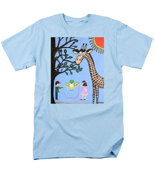 Men's T-Shirt  (Regular Fit) featuring the painting Nature's Playground by Kathleen Sartoris