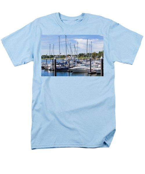 New Hampshire Marina Men's T-Shirt  (Regular Fit) by Fred Larson