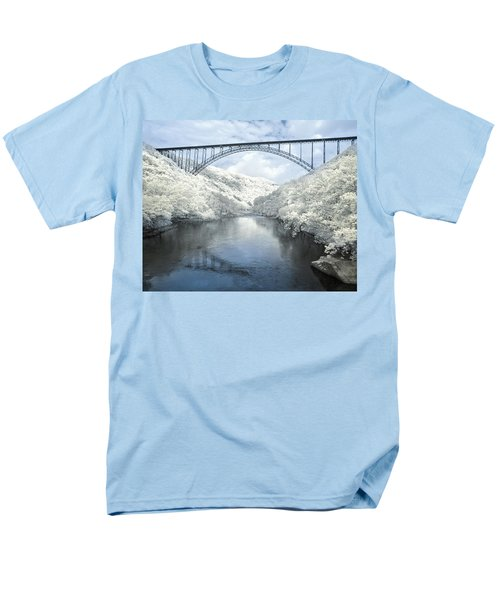 New River Gorge Bridge In Infrared Men's T-Shirt  (Regular Fit) by Mary Almond