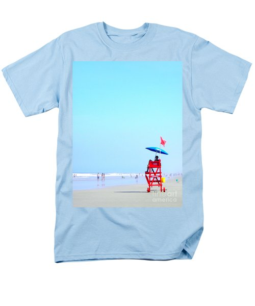 Men's T-Shirt  (Regular Fit) featuring the digital art New Smyrna Lifeguard by Valerie Reeves