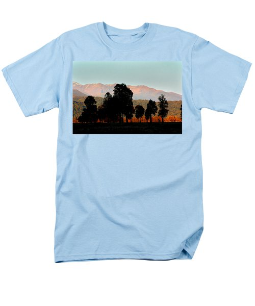 Men's T-Shirt  (Regular Fit) featuring the photograph New Zealand Silhouette by Amanda Stadther