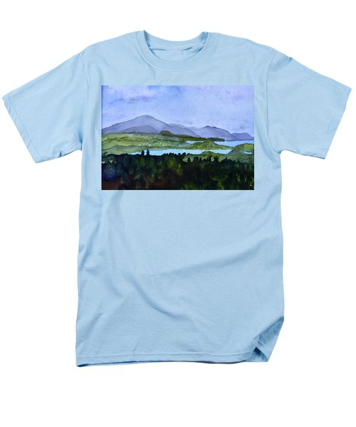 Men's T-Shirt  (Regular Fit) featuring the painting Newport From Brownington Lookout by Donna Walsh