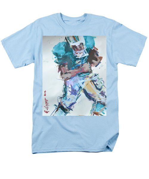 Nfl Football Painting Men's T-Shirt  (Regular Fit) by Robert Joyner