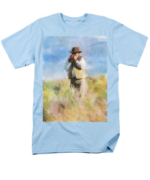Men's T-Shirt  (Regular Fit) featuring the painting No Useless Cares by Greg Collins