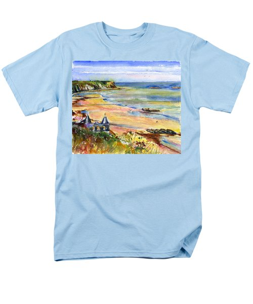 Normandy Beach Men's T-Shirt  (Regular Fit) by John D Benson