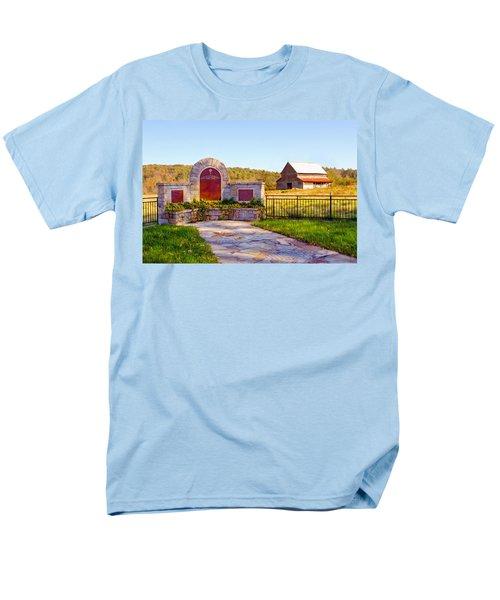Men's T-Shirt  (Regular Fit) featuring the photograph Landscape Barn North Georgia by Vizual Studio